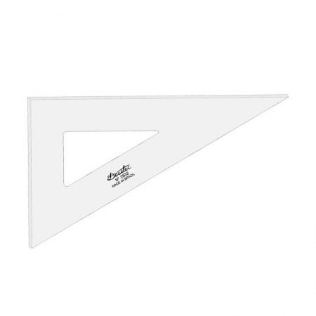 Esquadro acrílico 32cm x 60 graus sem escala 2632 - Trident