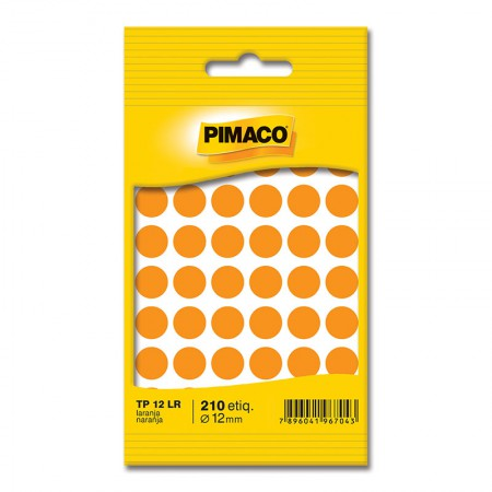 Etiqueta adesiva TP12 - laranja - Pimaco