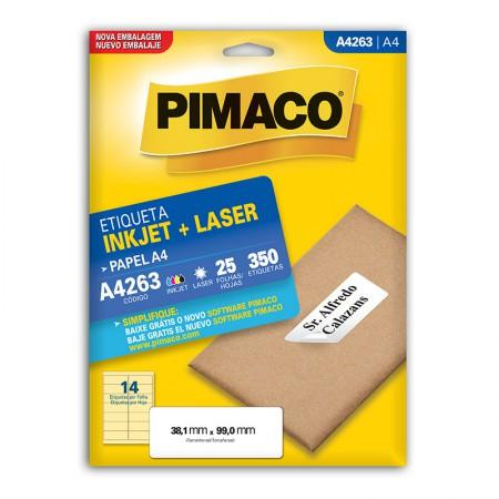 Etiqueta inkjet/laser A4263 - com 25 folhas - Pimaco
