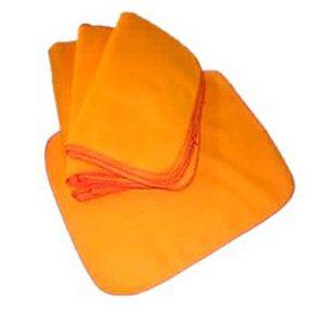 Flanela de algodão laranja 28X38