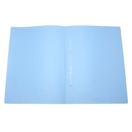 Pasta com grampo ofício plástica - Linho Serena - Azul pastel - 295.BP - Dello
