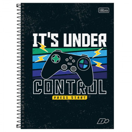 Caderno espiral capa dura universitário 1x1 - 96 folhas - D Mais - Ride the Wave Surf - Tilibra