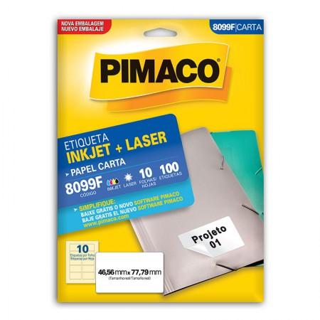 Etiqueta inkjet/laser carta 8099F - com 10 folhas - Pimaco