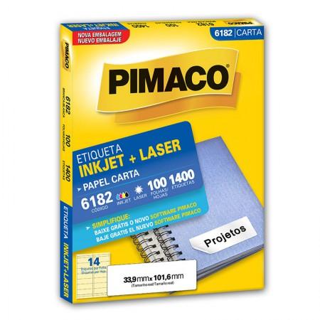 Etiqueta inkjet/laser carta 6182 - com 100 folhas - Pimaco