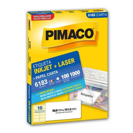 Etiqueta inkjet/laser carta 6183 - com 100 folhas - Pimaco