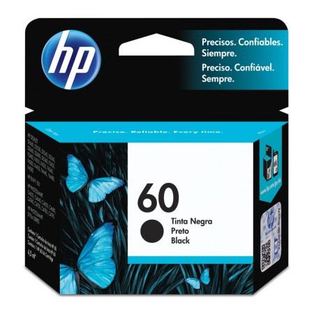 Cartucho HP Original (60) CC640WB - preto rendimento 200 páginas