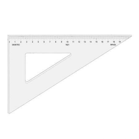 Esquadro acrílico 21cm x 60 graus com escala 1621 - Trident