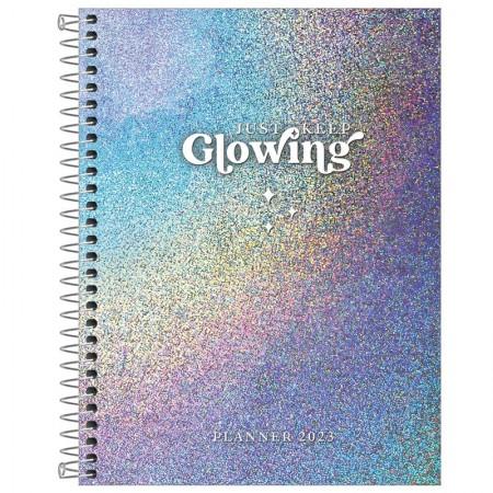 Agenda planner espiral semanal Glow 2022 - Tilibra