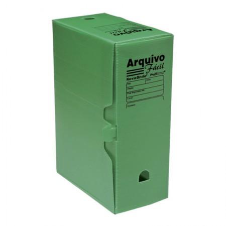 Arquivo morto plástico ofício novaonda verde - Polibras