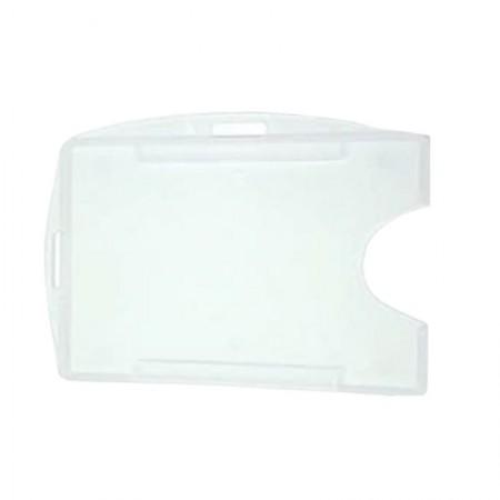 Porta crachá rígido conjugado - Transparente - Activa