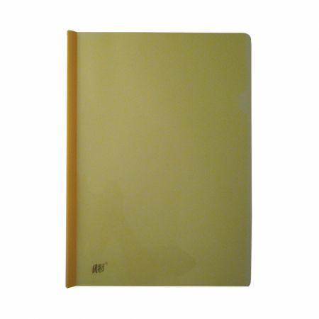Pasta com canaleta transparente ofício amarelo C335 - Yes