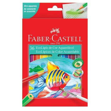 Lápis de cor 36 cores - aquarelável - 12.0236G - Faber-Castell