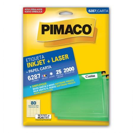 Etiqueta inkjet/laser carta 6287 - com 25 folhas - Pimaco