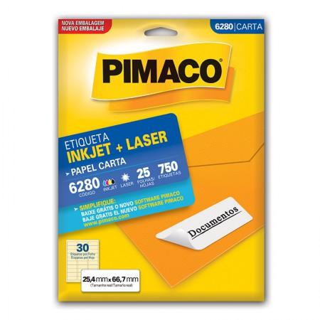 Etiqueta inkjet/laser carta 6280 - com 25 folhas - Pimaco