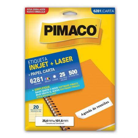 Etiqueta inkjet/laser carta 6281 - com 25 folhas - Pimaco