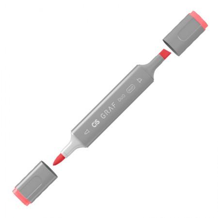 Caneta marcador artistico Graf Duo Brush - (12) - Coral Red - Cis