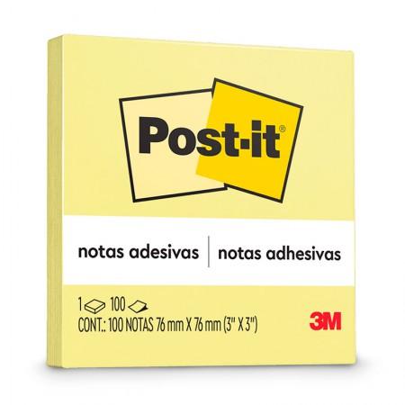 Bloco Post-It 654 - amarelo - com 100 folhas - 3M