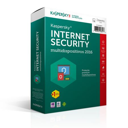 Antivírus 2017 Internet Security licença de uso - 1 dispositivo - Kaspersky