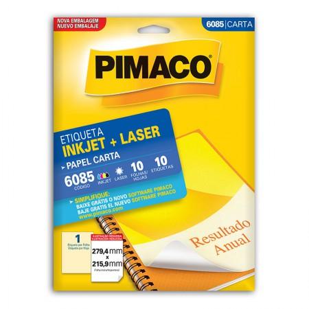 Etiqueta inkjet/laser carta 6085 - com 10 folhas - Pimaco
