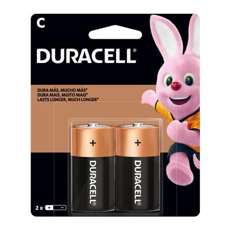 Pilha alcalina média C - com 2 unidades - Duracell