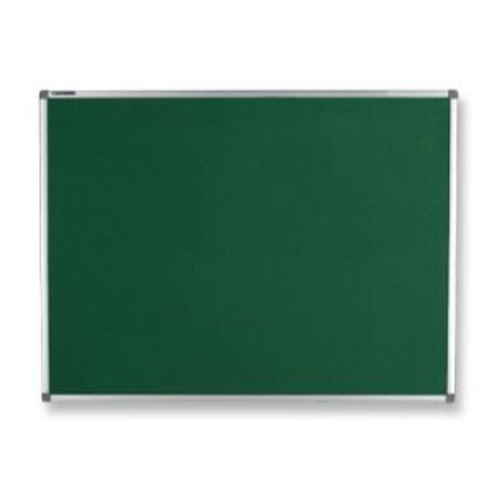 Quadro feltro verde moldura de alumínio 90x120cm Board Net