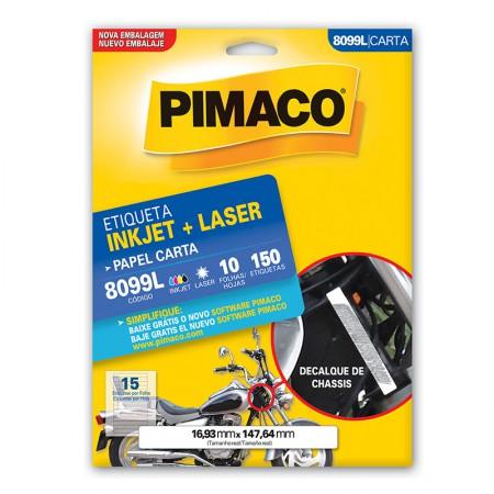 Etiqueta inkjet/laser carta 8099L - com 10 folhas - Pimaco
