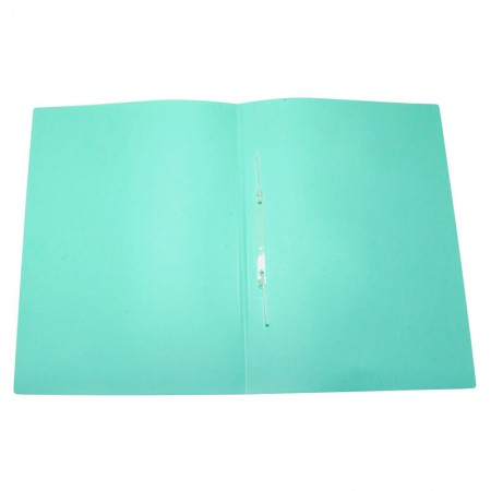 Pasta com grampo ofício plástica - Linho Serena - Verde pastel - 295.VP - Dello