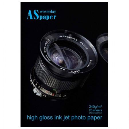 Papel fotográfico glossy paper A4 240g 8363 20 fls Usa Folien