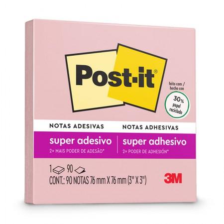 Bloco Post-it 654 - Rosa Milênio - com 90 folhas - 3M