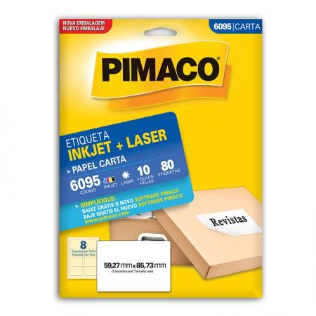 Etiqueta inkjet/laser carta 6095 - com 10 folhas - Pimaco