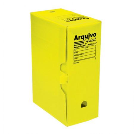 Arquivo morto plástico ofício novaonda amarelo - Polibras