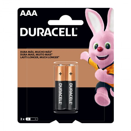 Pilha alcalina palito AAA - com 2 unidades - Duracell