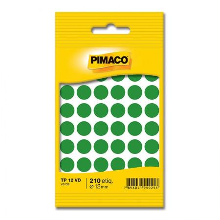 Etiqueta adesiva TP12 - verde - Pimaco