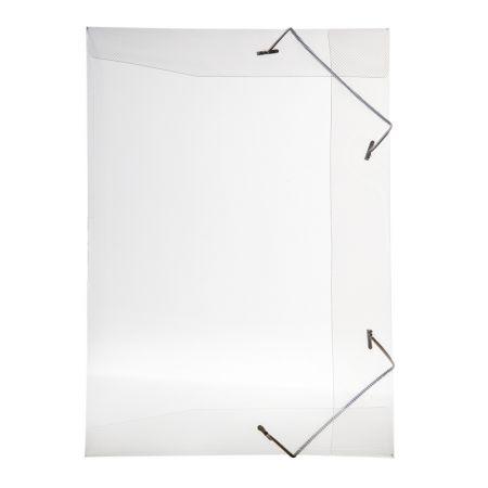 Pasta com aba elástico 1/2 ofício - transparente cristal - 0252.H - Dello