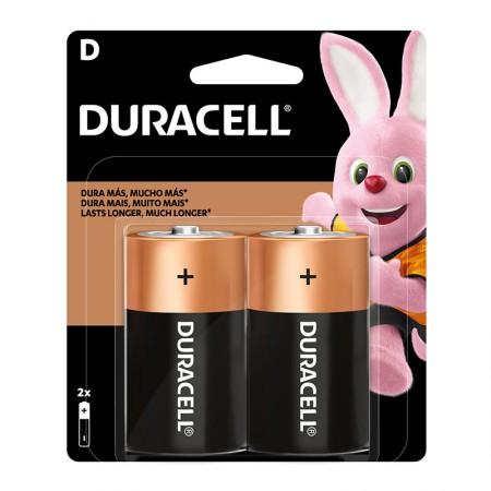 Pilha alcalina grande D - com 2 unidades - Duracell