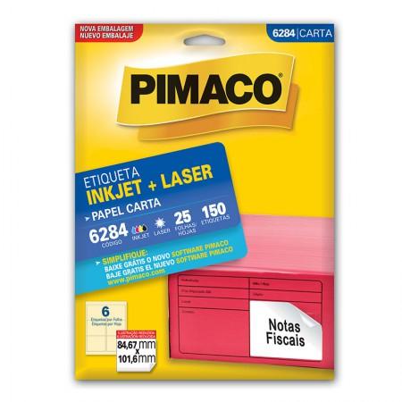 Etiqueta inkjet/laser carta 6284 - com 25 folhas - Pimaco