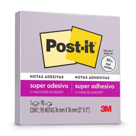 Bloco Post-it 654 - Lilac - com 90 folhas - 3M
