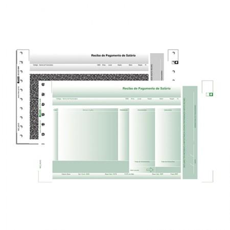 Recibo de pagamento autocopiativo LAB 2 preto e verde com 3000 jogos - 1758-6 - Chies