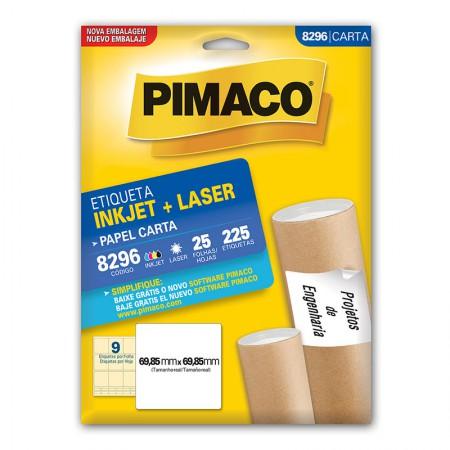 Etiqueta inkjet/laser carta 8296 - com 25 folhas - Pimaco