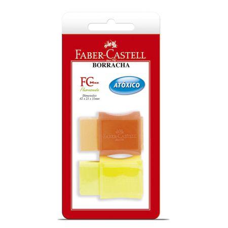 Borracha TK-Plast neon blist - SM/107024F - com 2 unidades - Faber-Castell