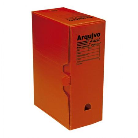 Arquivo morto plástico ofício novaonda vermelho - Polibras