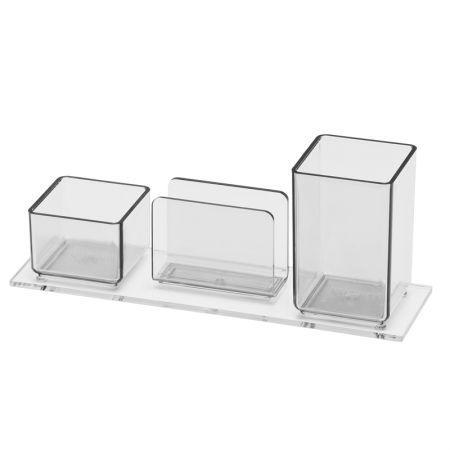 Porta lembrete/lápis/clips - cristal - 940.3 - Acrimet