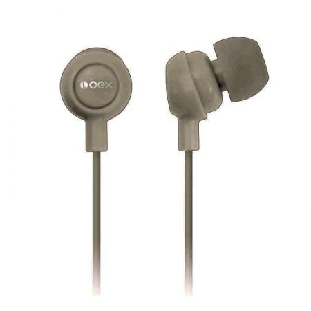 Fone de ouvido Auricular cinza - FN100/CZ - Oex