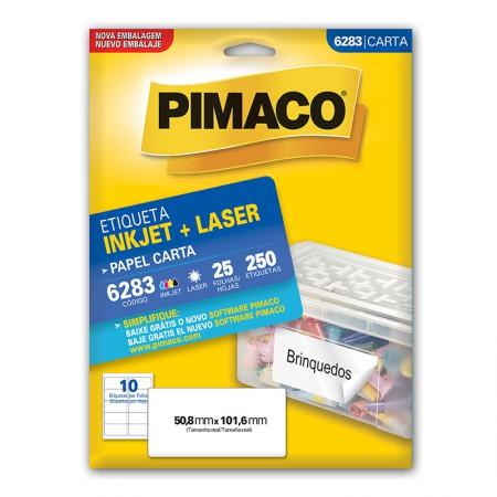 Etiqueta inkjet/laser carta 6283 -  com 25 folhas - Pimaco