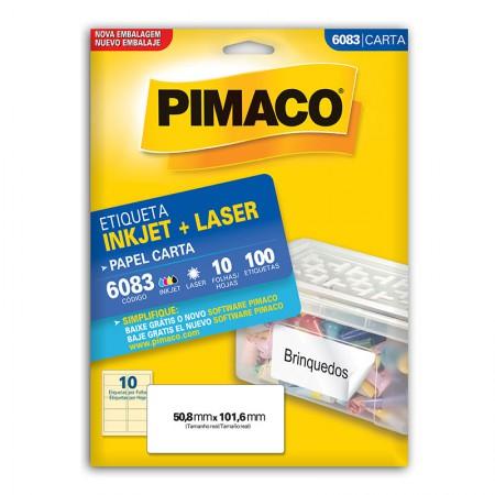Etiqueta inkjet/laser carta 6083 - com 10 folhas - Pimaco