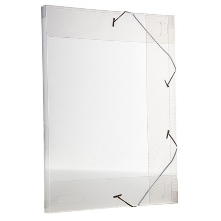 Pasta com aba elástico transparente ofício 20mm - cristal - 255.H - Dello