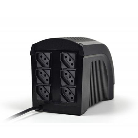 No-break 110v 500VA preto - UPS Mini 331 - 6 tomadas - Ts Shara