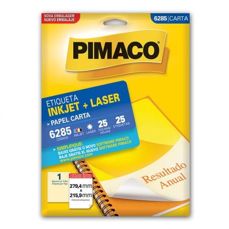 Etiqueta inkjet/laser carta 6285 - com 25 folhas - Pimaco