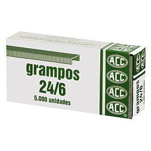 Grampo galvanizado 24/6 - com 5000 unidades - ACC