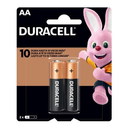 Pilha alcalina pequena AA - com 2 unidades - Duracell